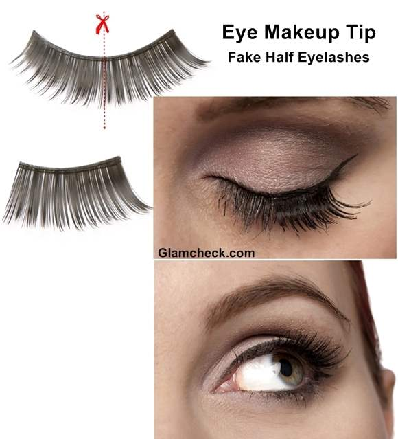 Eye Makeup Tip – Fake Half Eyelashes
