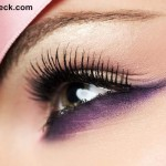Eye Makeup defining the lower lash line