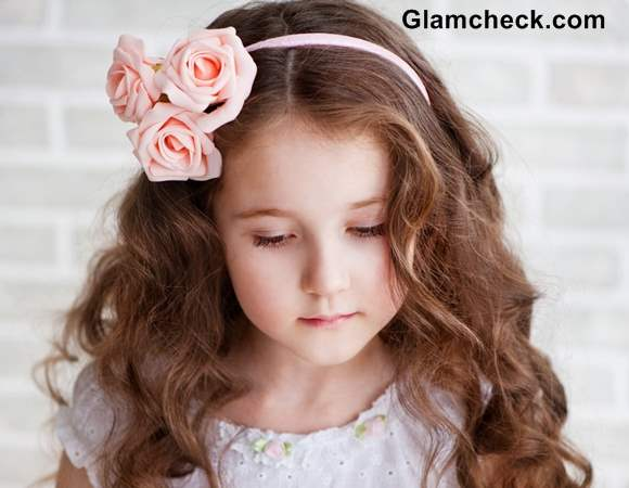 floral hair accessory for little girls flower hair elastic bands