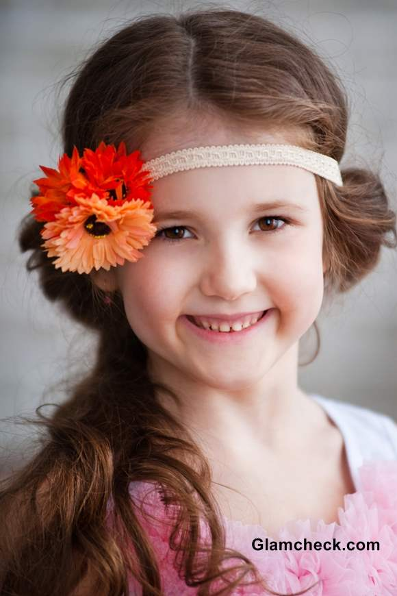 Flower Hair Elastic Bands for little girls