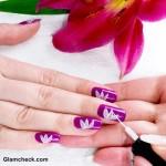 Flower Nail Art DIY Lotus Motif