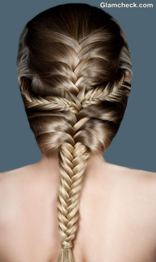 hair plaiting styles hairstyle poll fishtail plait vs three row 8871 | French Fishtail Plait Hairstyle