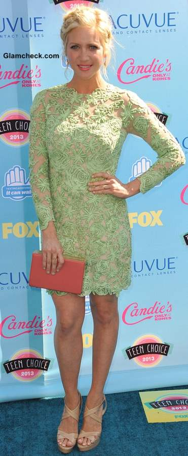 Green Lace dress Brittany Snow