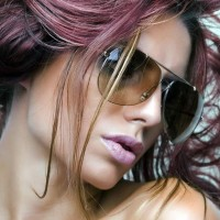 Hair Color Inspiration Pink and Plum Highlights