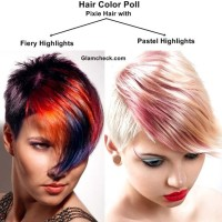 Hair Color Poll - Pixie Hair with Fiery Highlights Vs Pastel Highlights