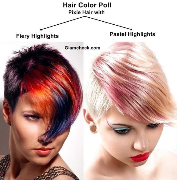 Hair Color Poll Pixie Hair With Fiery Highlights Vs