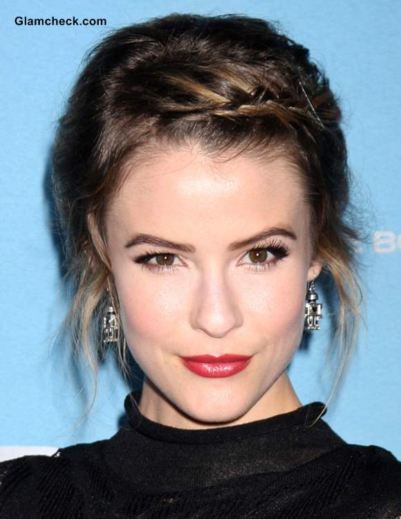 Hairstyle How To Linsey Godfrey Braided Bangs for Short Hair
