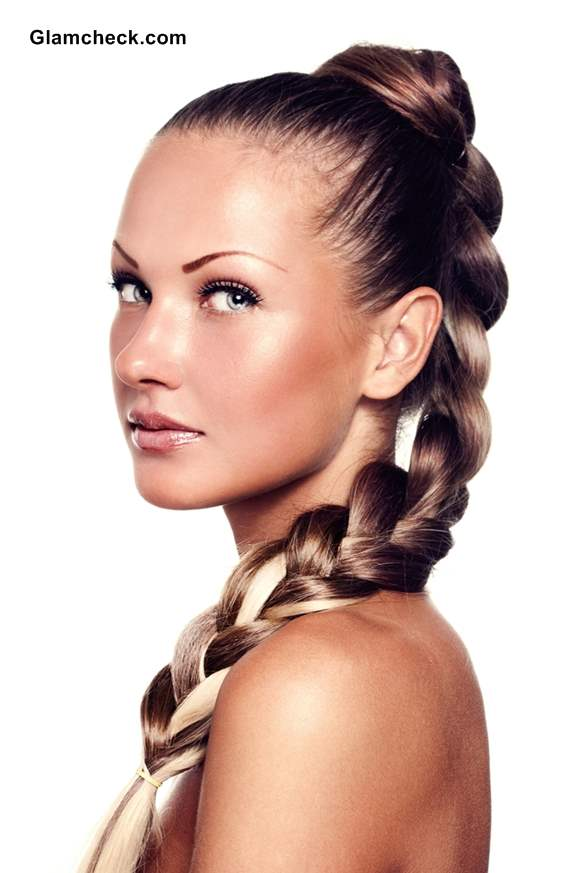 Hairstyle How To Chunky High Plait