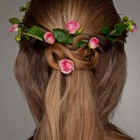 Hairstyle How To Floral Wreath Updo