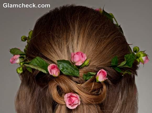 Hairstyle How To Sport the Floral Wreath Updo