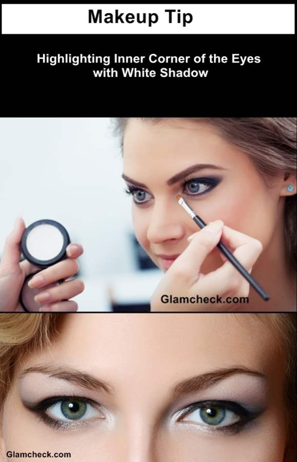 Highlighting Inner Corner of the Eyes with White Shadow