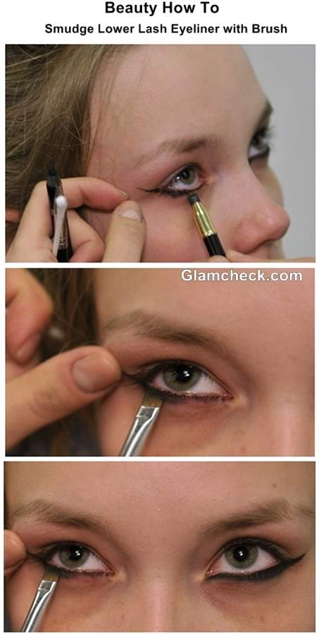 How To Smudge Lower Lash Eyeliner with Brush