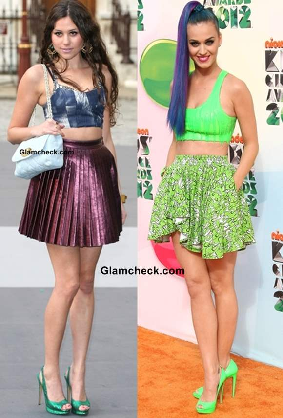 How to Wear Crop top with Short Skirts