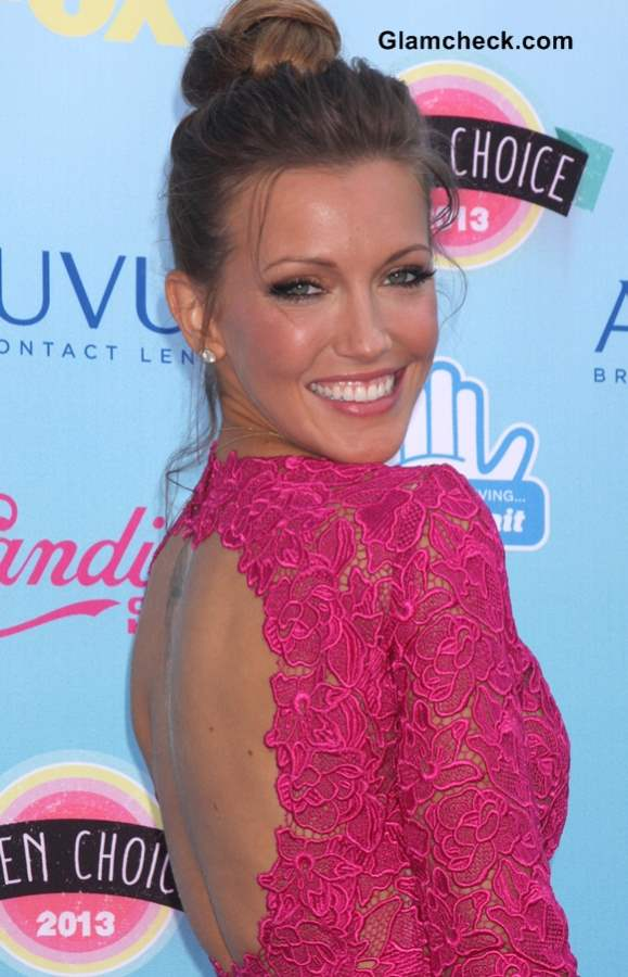 Katie Cassidy 2013 Top Knot Hairstyle