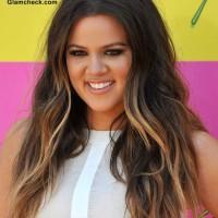 Khloe Kardashian Hair color 2013- Dual Toned