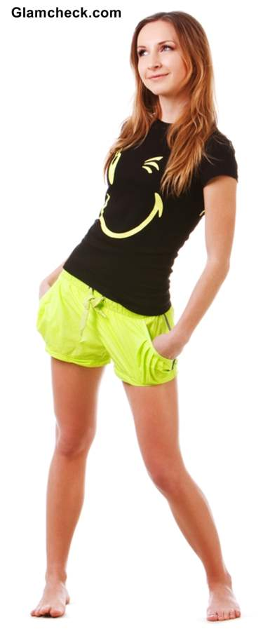 Laidback look with Yellow Shorts