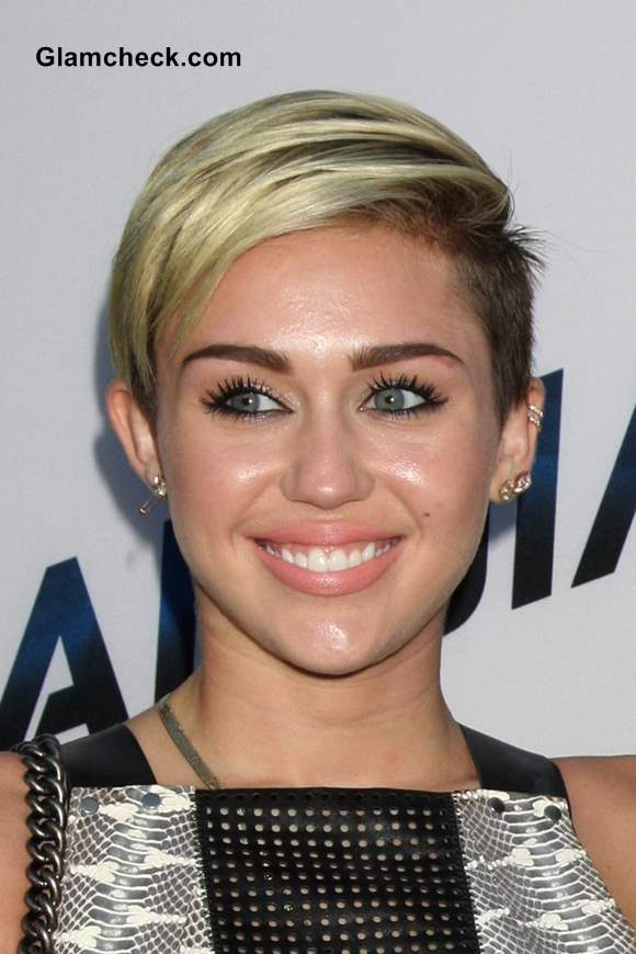 Miley Cyrus Punk Hairstyle 2013