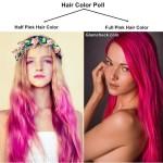 Pink Hair Color Poll Half Vs Full