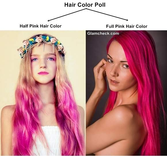 hair color poll half pink hair color vs pink hair color