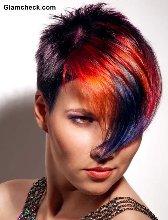 hair color poll pixie hair with fiery highlights vs