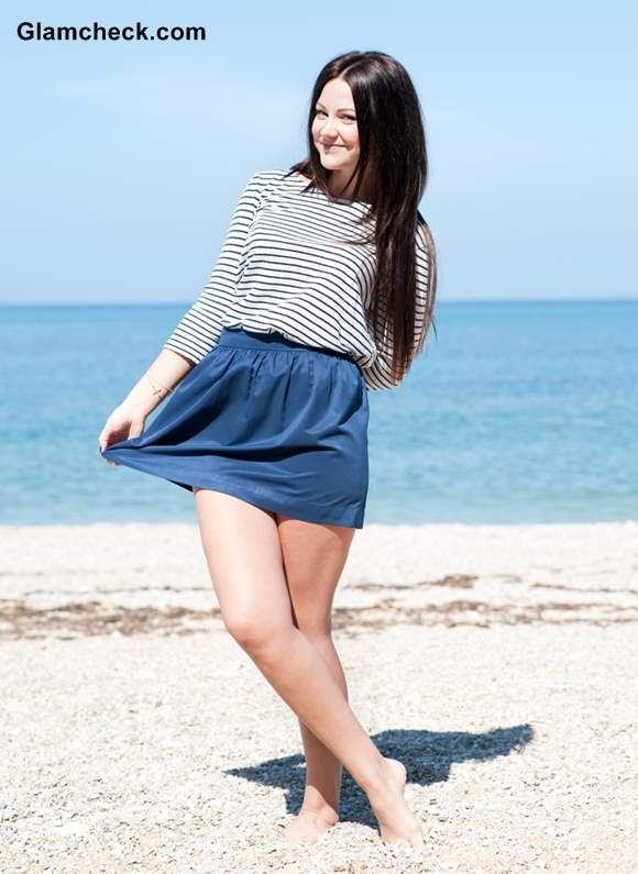 Rock the Look striped top with skirt