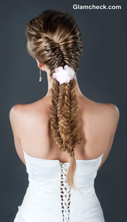 Three Row Fishtail Plait Hairstyle