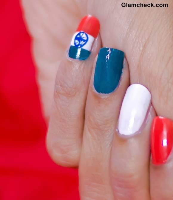 Tri-Color Nail Art DIY - India Independence Day