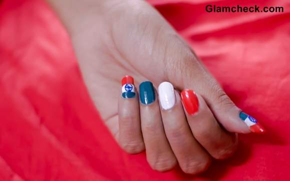 Tri-Color Nail Art - India Independence Day