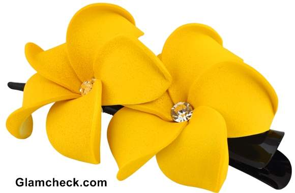 Flower hair clips how and where to wear flower hair clips types and varieties of flower hair clips mightylinksfo