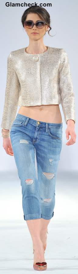 Wear Crop Blazers with Crop Pants or rolled up pants jeans