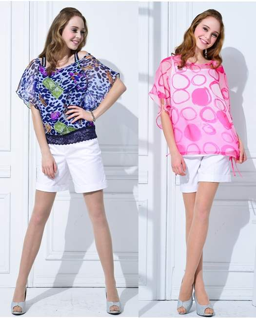 Wearing White Shorts with kaftan tops