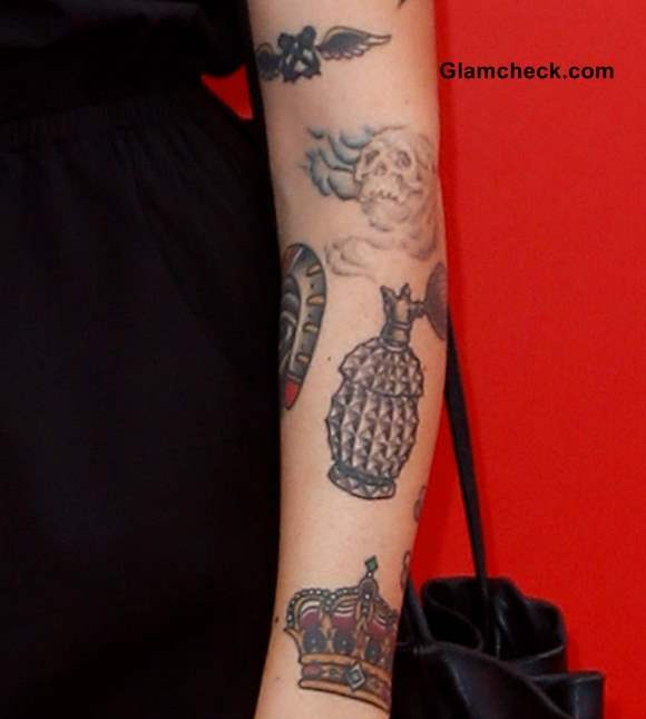 Arm Tattoos Alexis Krauss and their meaning