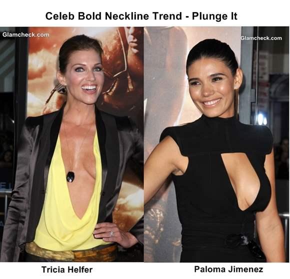 Celeb Bold Neckline Trend 2013 - Plunge It