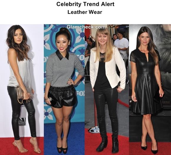Celebrity Trend Alert 2013 – Leather Wear