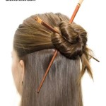 Elegant Half Updo with Asian Hair Sticks