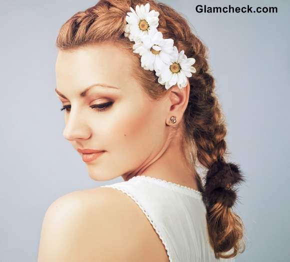 Floral Fusion Braid Hairstyle