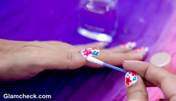 Flower Nail Art DIY steps