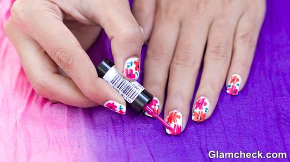 Tropical Nail Art Diy Easy And Quick Flower Nail Art