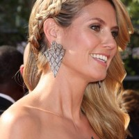 Hairstyle DIY- Heidi Klum Dutch Braid Side Swept Hair
