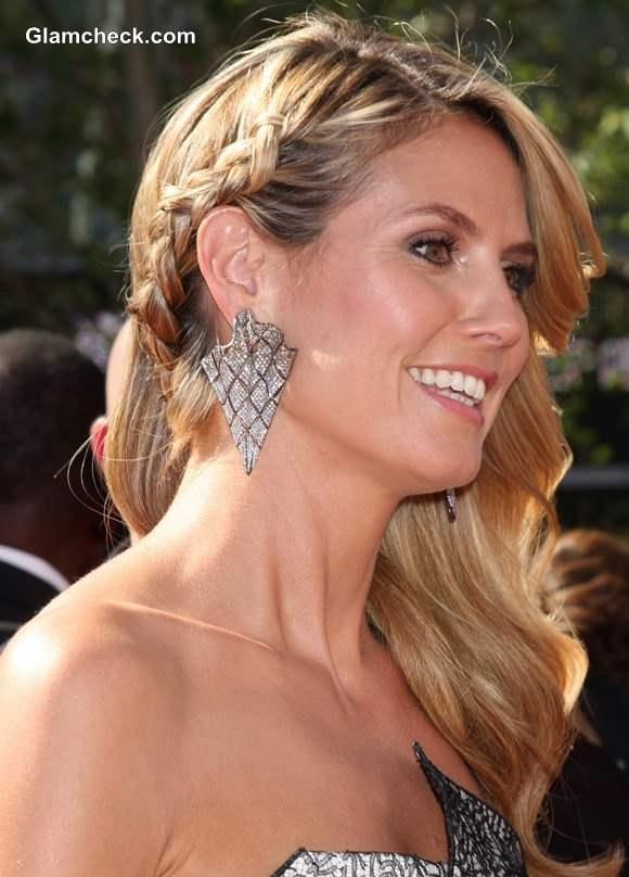 Hairstyle DIY- Heidi Klum Dutch Braid Side Swept Hair