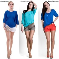How to Wear Colored Shorts for women