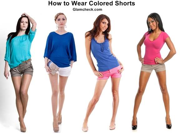 How to Wear Colored Shorts