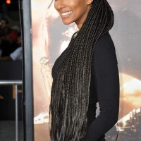 Keri Lynn Hilson Cornrow Hairdo at Riddick World Premiere