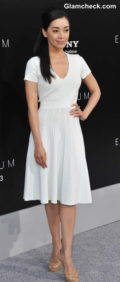 Lady-like Dressing in White Dress Aimee Garcia