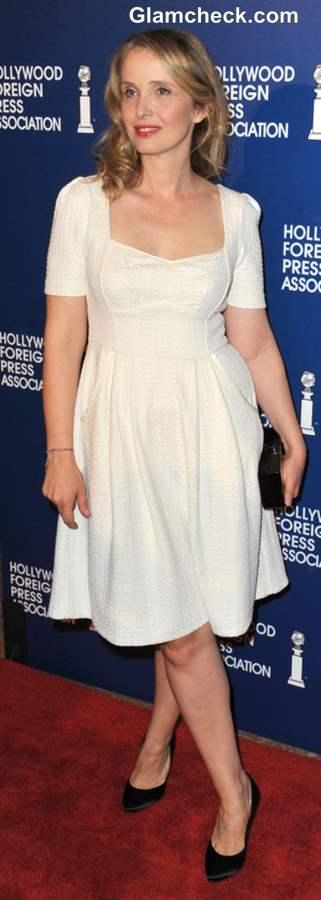 Lady-like Dressing in White Dress Julie Delpy