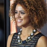 Nathalie Emmanuel Shows Bouncy Perms Hairstyle 2013