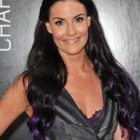Rileah Vanderbilt Sports Purple Curls