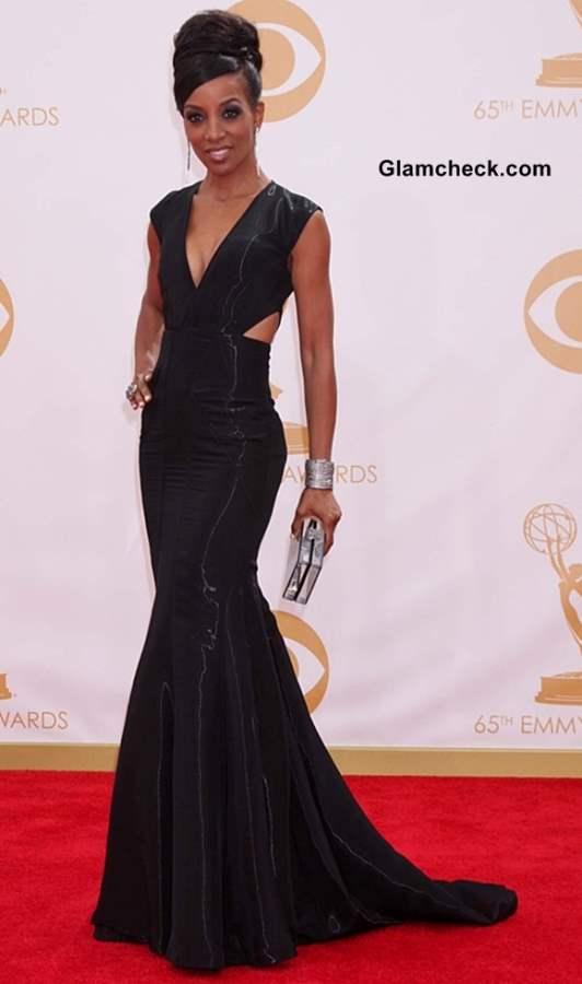Shaun Robinson at the 65th Emmy Awards
