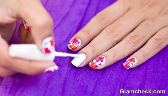 Tropical Nail Art DIY Flower Nail Art