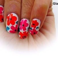 Tropical Nail Art DIY flowers